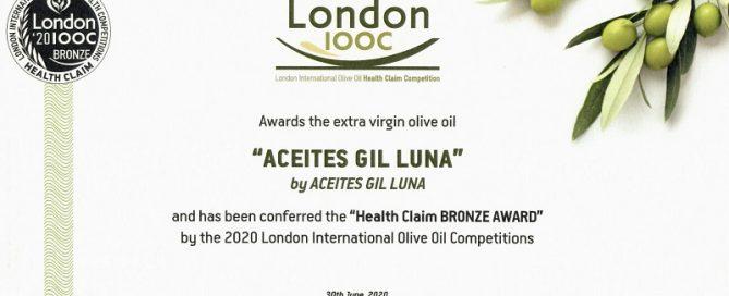 GIl Luna Olijfolie IOOC2020 Award
